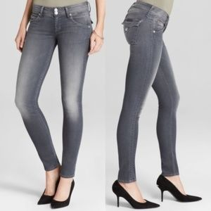 Hudson Collin Skinny Flap Pocket Jeans in Gray 27